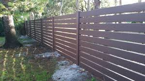 Horizontal Back Yard Fence Vinyl Fence Wood Grain Vinyl Fence Fence Design
