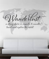 Wanderlust Travel Map Sticker Moonwallstickers Com