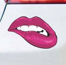 Sexy Lip Bite Car Decal Bumper Sticker Macbook Air Sticker Dope Jdm Girl Sticker Ebay