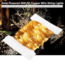 solar powered 200led copper wire string