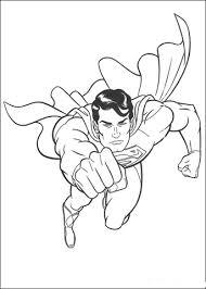 Superman Vliegt De Ruimte In Kleurplaat Gratis Kleurplaten Printen