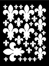 White Fleur De Lis Wall Decals Bedroom Wall Decor Whimsidecals