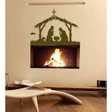 Shop Birth Of Jesus Christ Wall Art Sticker Decal Brown Overstock 11849694