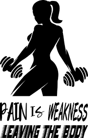 Pain Is Weakness Leaving The Body Vinyl Decal For Walls Or Windows Sticker Collection For Wall Decor And Home Improvement Gym Room