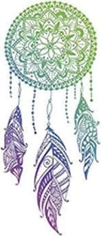 Amazon Com Divine Designs Green Blue Purple Ombre Mandala Henna Dream Catcher Vinyl Decal Sticker 4 Tall Automotive