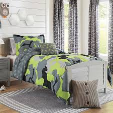 Buy 3 Piece Boys Lime Grey Black Camo Comforter Twin Twin Xl Set Multi Camouflage Pattern Army Themed Stylish Green Plaid Design Kids Bedding Teen Bedroom Reversible Solid Grey Color Trendy Polyester