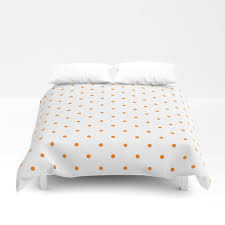 small orange polka dots duvet cover by