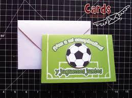 Tarjetas De Cumpleanos Futbol