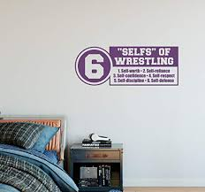 Amazon Com 30 X12 Selfs Of Wrestling Self Worth Self Confidence Self Discipline Self Reliance Self Respect Self Defence Sport Team Game Wall Decal Sticker Art Mural Home Decor Home Kitchen