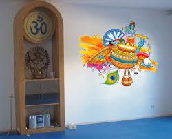 Cik789 Full Color Wall Decal India Hindu God Attributes Bedroom Living Stickersforlife