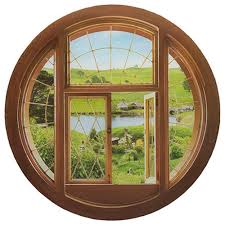 The Hobbit Hole Window Wall Decal Entertainment Earth