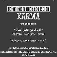 menyikapi hukum karma dalam islam karma islam dan hukum