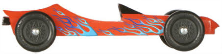 Blue Flames Decal For Pinewood Derby Cars
