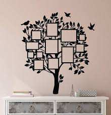 Vinyl Wall Decal Frame For Photos Family Tree Room Decoration Stickers Wallstickers4you