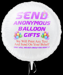 anonymous printed balloon gifts