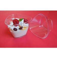 pudding dessert cups triangle dessert