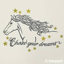 Horse Wall Decal Chase Your Dreams Quote Motivational Quote Horse Lovers Whimsical Children S Room Nursery Equine Uplifting