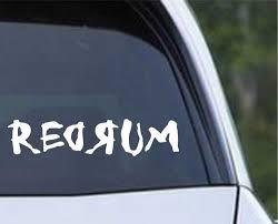 The Shining Redrum Vinyl Die Cut Decal Sticker Texas Die Cuts