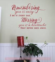 Missing You Is A Heartache Vinyl Lettering Quote Wall Decor Art Memorial Decals