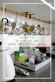 how to glam up an ikea grundtal rail