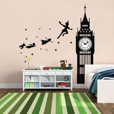 Peter Pan Big Ben Silhouette Quote Wall Decal Vinyl Sticker Krafmatics