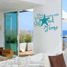 Island Time Vinyl Wall Window Lettering For Beach House Nautical Decor