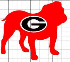 Georgia Bulldogs Vinyl Decal Sticker Georgia Bulldogs Vinyl Decal Stickers Bulldog Wallpaper