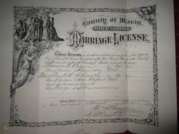 G16-1098 Thomas Brown, Ida Reynolds - Marin County, CA Marriage Certificate  1889 | #1817793293