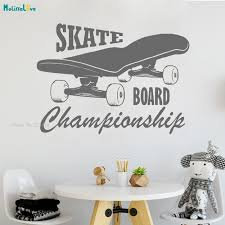 Waliicorners Skate Board Wall Decal Skateboard Vinyl Stickers Extreme Sport Logo Home Interior Housewares Design Bedroom Home Decor Yt1683 Waliicorner S Store