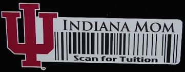 Iu Indiana Hooisers Mom Scan For Tuition Barcode Decal