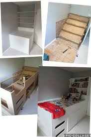 Bespoke Cabin Bed Over Stairs Bulkhead Child S Bed Kid S Bed Box Room Bedroom In 2020 Box Bedroom Box Room Bedroom Ideas Stair Box In Bedroom