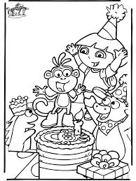 Dora Verjaardag Kleurplaten Verjaardag