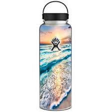 Skin Decal For Hydro Flask 40 Oz Wide Mouth Sunset On Beach 647358197114 Ebay