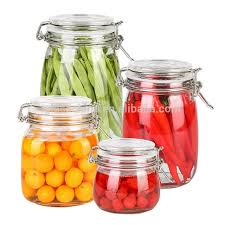 airtight glass jars food container