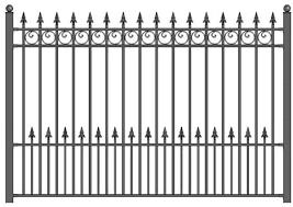 Amazon Com Aleko Fencepradiy5x5 5 Prague Style Diy Galvanized Steel Fence Ornamental Security 5 5 X 5 Feet Black Garden Outdoor