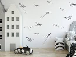 Paper Planes Wall Decal Boys Room Decals Wall Decor Paper Etsy Boy Room Wall Decor Boys Room Decals Vinyl Wall Decals Boys Room