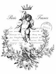 Vintage Paris French Angel Cupid Furniture Transfers Waterslide Decals Mis618 Ebay