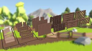 Low Poly Fence Pack 3d Model Minecraft Banner Designs Social Media Drawings Minecraft Banners