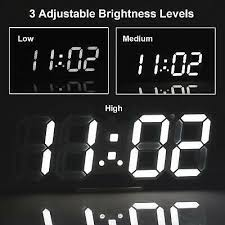digital 3d led wall clock alarm snooze