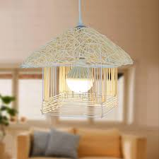 woven rope and metal large pendant lights