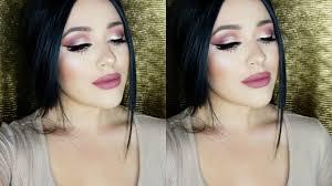 soft pink spring glam makeup tutorial