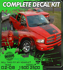 2003 2004 2005 2006 2007 2008 2009 Dodge Ram 1500 Hemi Truck Decals Stripes Kit Car Truck Graphics Decals Auto Parts And Vehicles Tamerindsa Com Ar