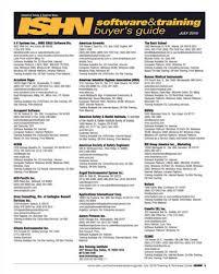 ISHN July 2016 Software & Training Buyers Guide