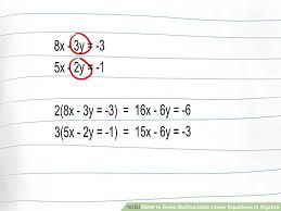 how to solve algebra equations with