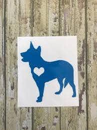 Australian Cattle Dog Blue Heeler Red Heeler Car Decal Etsy