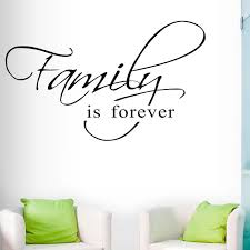 Hot Sale Artistic Words Family Is Forever Wall Sticker Landscape Posters Bedroom Stickers Pvc Mural Wall Decal Home Decoration Wall Stickers Aliexpress