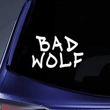 Amazon Com Bargain Max Decals Bad Wolf Graffiti Dw Whovian Sticker Decal Notebook Car Laptop 5 White Automotive