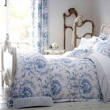 dorma blue toile duvet cover blue