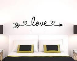Love Arrow Decal Heart Wall Decal Bedroom Decor Love Wall Decal Wedding Decor Nursery Wall Decal Bedroom Wall Bedroom Decor Wall Decals For Bedroom