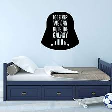 Amazon Com Darth Vader Wall Decal Together We Can Rule The Galaxy Star Wars Vinyl Decoration For Boys Room Decor Playroom Handmade